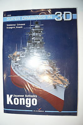 WW2 Japanese Battleship Kongo Kagero Super Drawings 16005 Reference Book
