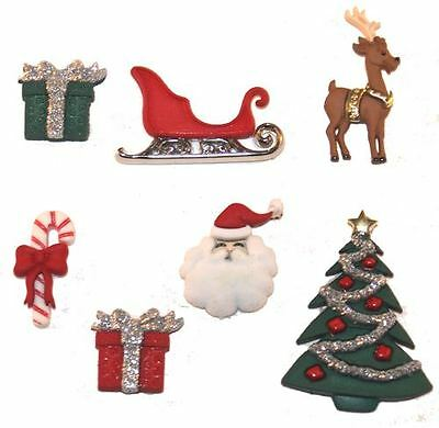 Christmas Eve Novelty Craft Buttons & Embellishments by Dress It Up