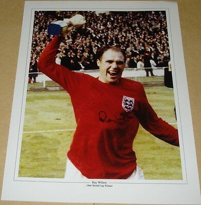 Ray Wilson England 1966 World Cup Personally Signed Autograph 16X12 Photo Soccer