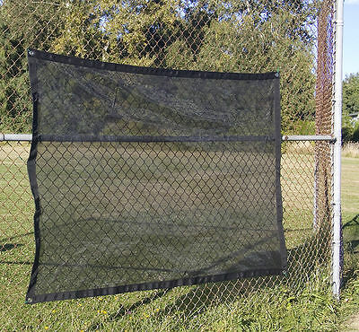 Shade Tarp, Black Mesh Fabric, 70% Shade Value, 4'x6' Made & Shipped from USA!