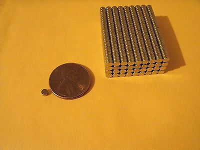 100 Super Strong Rare Earth Neodymium Disc Magnets 3mm x 1mm Strong N35 Tiny
