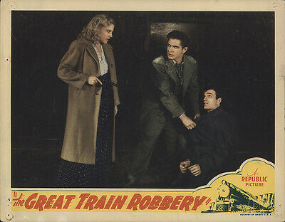 The Great Train Robbery 1941 Original Movie Poster Crime Drama