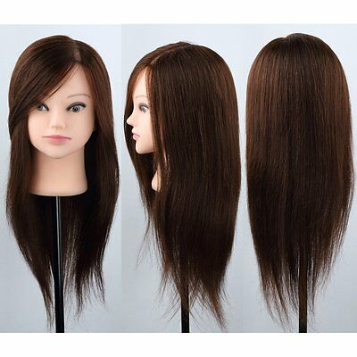 Fast Delivery 100% Real Human Long Hair Practice Mannequin Hairdressing Training