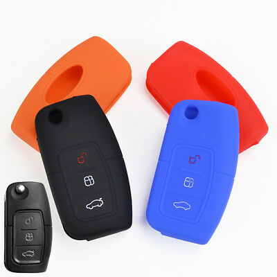 Fit For Ford Fiesta Focus C S Max Kuga Mondeo Silicone Key Holder Case Cover