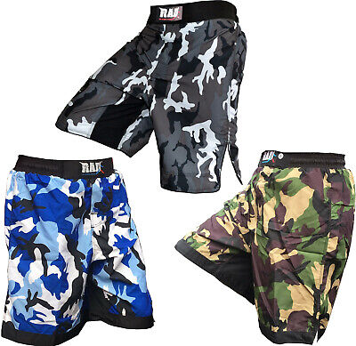 RAD MMA Fight Shorts Grappling Short Kick Boxing Cage Fighting Shorts Camo Grey