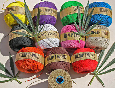 HEMP TWINE / CORD - BEST PRICE  5 Spools Off 130 Mt = 650 Mt  (2080) ft  Macrame