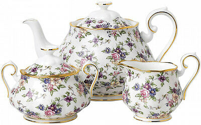 100 Year Of Royal Albert 1940 English Chintz Teapot Set