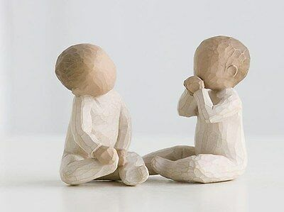 New & Boxed Willow Tree Figurine Two Together Twins Baby Gift Christening #26188