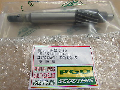 Pgo Buddy 50 Transmission Drive Shaft P5141100000 New Old Stock
