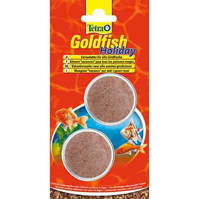 2 x Tetra Goldfish Holiday- 2x12g Aquarium 14 Day Food Block*BUNDLE