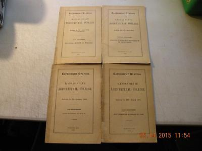 Lot of (4) 1900-1902 Kansas State Agricultural College Experiment Station Books