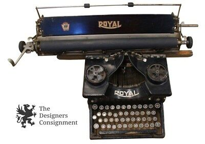 Rare Antique Royal Standard 10 1920s Typewriter Extended Carriage Platen Paper