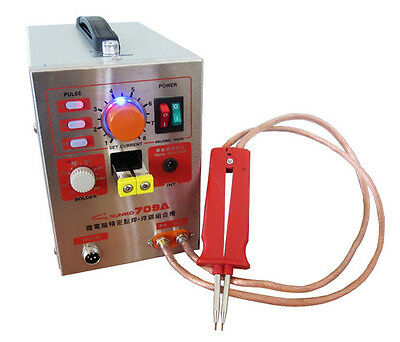 110V US CA 1.5kw 709A Micro-computer Pedal control battery spot welder+Soldering