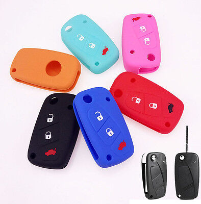 Fit For Fiat Panda Stilo Punto Ducato Bravo Doblo Silicon Key Remote Holder Case