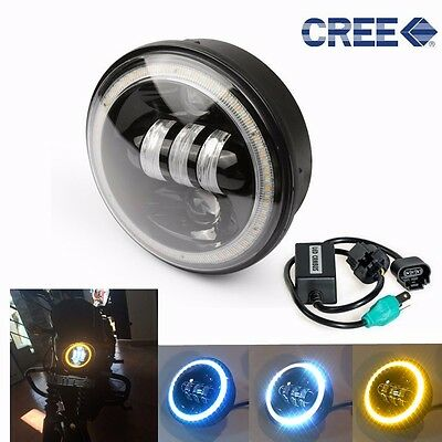 """5-3/4"""" Daymaker LED Headlight Assembly Black 50W CREE for Harley Motorcycle"""