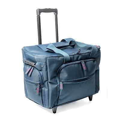 Sew Easy Navy Sewing Machine Trolley Bag Deluxe 50 x 28 x 37cm.