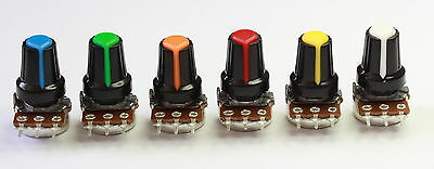 Potentiometer Rotary (15mm) 500R->2M with Colour Coded Knob-Sold Individually #2