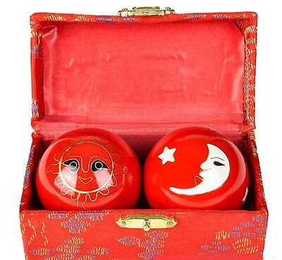Chinese Health Exercise Stress Baoding Balls Relaxation Therapy Sun Moon Design