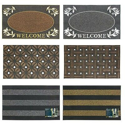 New Outdoor Rubber Dirt Catcher Mats Doorstep Outside Porch Front Entrance Door