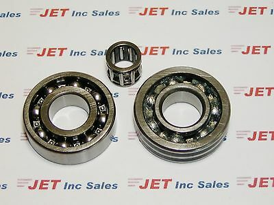 CRANKSHAFT & PISTON PIN BEARING SET Fits STIHL TS410 TS420 3 pcs. LATE TYPE