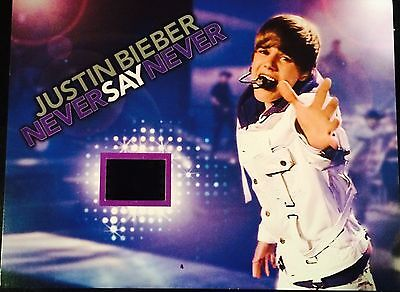 Justin Bieber Collectible Senitype film cell (Never Say Never)