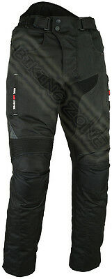 Black Hawk Vented Mens Ce Armour Cordura Motorbike / Motorcycle Textile Trousers