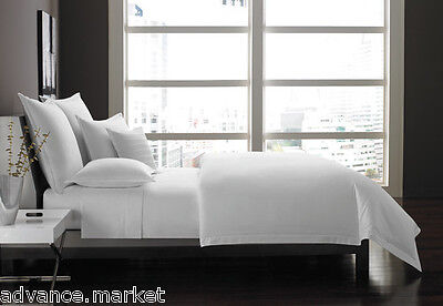 100% Egyptian Cotton 200 / 300 / 500 Thread Count Duvet Cover Set / Fitted Sheet