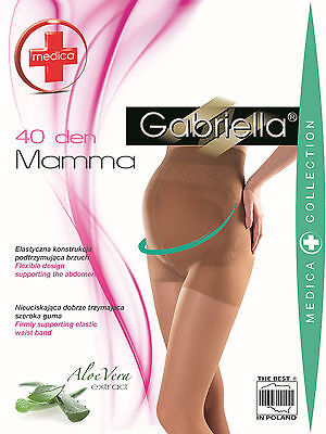 40 Denier  Comfortable Maternity Tights for Pregnancy S,M,L GABRIELLA