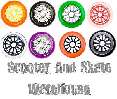 2 x YAK 100mm SCOOTER WHEELS  -   85a   LOW PROFILE