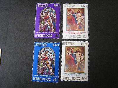 Barbados, Scott # 353-356(4) Complete Set 1971 Easter  Issue Mh