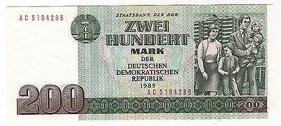 East Germany (Ddr):  200 Marks  (1985) (Ddr)