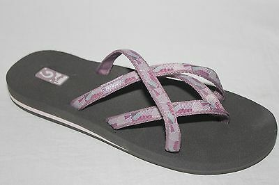 7976422022815 Teva Olowahu Thong Sandals Mush Footbed Womens Model 6840 New NIB