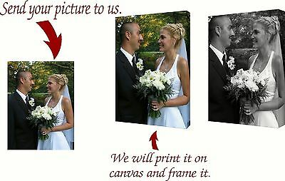 Print Your Photo on Custom GALLERY WRAPPED CANVAS, INCLUDES WOOD FRAME Free Ship