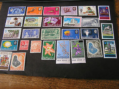 Barbados, Assorted #4, 27 Different Stamps Package Fine Mh/mlh