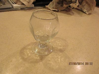 Libbey Chivalry On The Rocks Paneled Glass Clear Glass Goblet