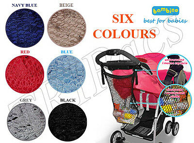 Stroller Buggy Shopping Net Bag Storage fits Maclaren Quinny Buzz Zapp 6 Colours