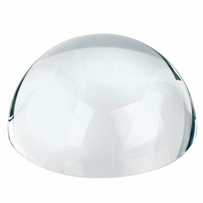 """PAPERWEIGHT MAGNIFIER - Dome Magnifier/Paperweight, 3.25""""OPTICAL CRYSTAL"""