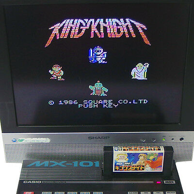 """MSX """" Kings Knight """" Japan Import SQUARE Cartridge only Very RARE !!"""