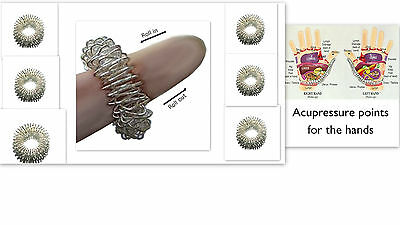 Acupressure Pain Therapy Finger Rings / Sujok Massage / Massager Circulation