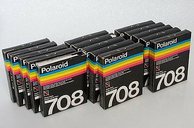 15 Polaroid Type 708 Film Packs 10 Exposures. NO BATTERY - Fifteen Packs expired