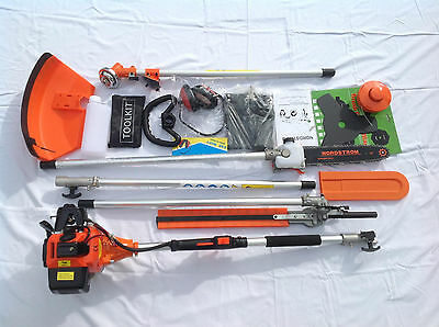 LONG REACH Petrol Chainsaw Pruner & Trimmer & strimmer & Ext. UP TO 3 METRES 9S