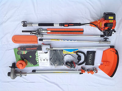 LONG REACH Petrol Chainsaw, Trimmer, Strimmer, Water Pump & Ext. UP TO 3 M. 9S