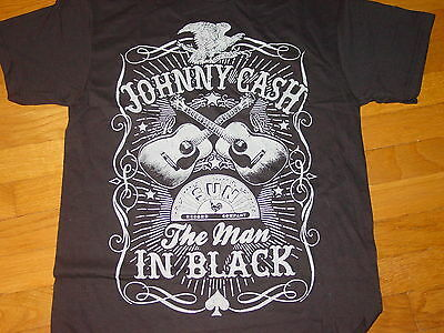 JOHNNY CASH      THE MAN in BLACK      Official Tour T-Shirt  NEW     sz. SMALL