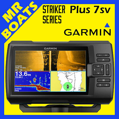 GARMIN STRIKER PLUS 7SV FISHFINDER GT52HWTM Transducer GPS Fish Finder FREE POST