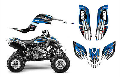 Yamaha Raptor 660 660R Graphics Decal Sticker Kit #1300 Blue Tribal
