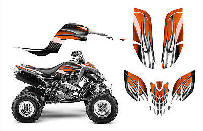 Yamaha Raptor 660 660R Graphics Decal Sticker Kit #1300 Orange Tribal