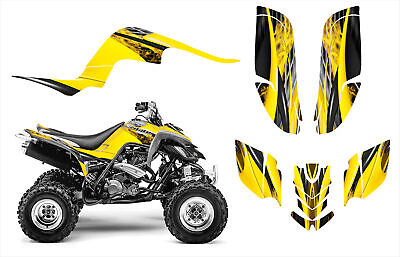 Raptor 660 graphics decal kit 24 mil thick pliable racing vinyl #3333 YELLOW