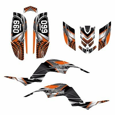 Yamaha Raptor 660 Graphics by AMG 24 mil thick racing vinyl #7777 ORANGE