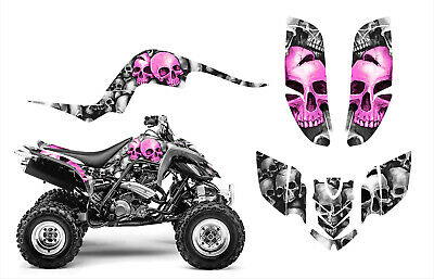 Yamaha Raptor 660 660R Custom Graphics Decal Sticker Kit #9800 Pink Skulls