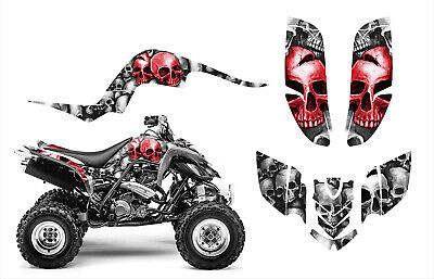 Yamaha Raptor 660 660R Custom Graphics Decal Sticker Kit #9800 Red Skulls